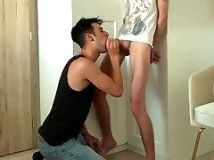 Blowjob with handjob for step brother