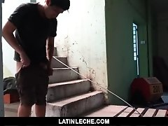 LatinLeche - Straight latin work sucks camera man's cock for cash