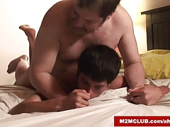 Hung daddy fucking his boy