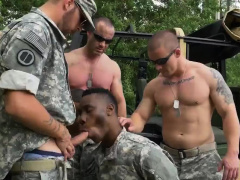 Army men licking dicks and medical visit gay porn military R